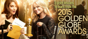 golden globes print lessons