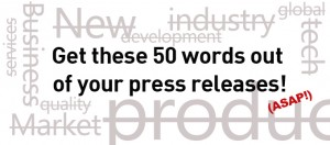 most overused words press releases
