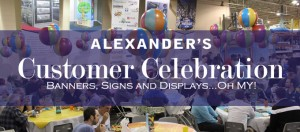 Banners for Customer Celebration