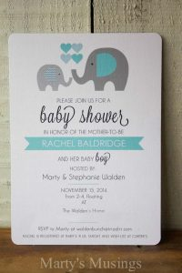an example of printed invitations for a baby shower