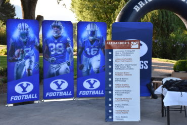 Alexander's provided pop-up signs that displayed BYU football players at the BYU golf tournament