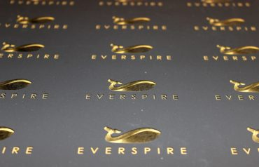 Black and gold pre-cut business cards